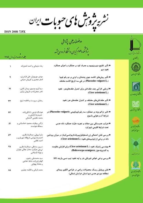 پژوهش های حبوبات ایران